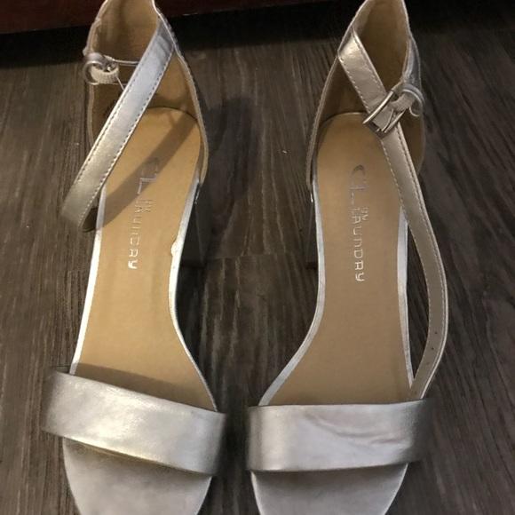 056397bcc2 CL by Laundry Shoes   Jody Block Heel Sandal   Poshmark